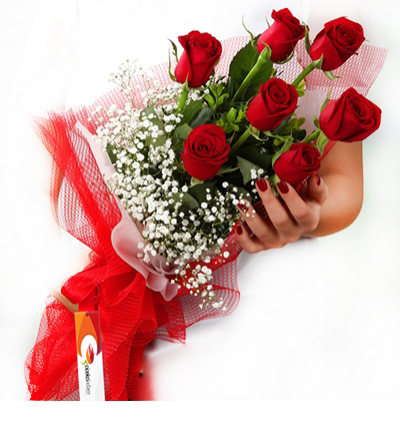33 pink roses bouquet 7 Rote Roses
