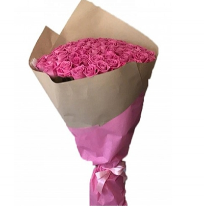 turkey flower delivery 71 Pink Roses Bouquet