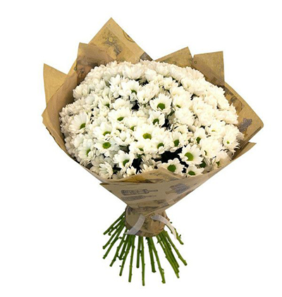 5 roses and lilly bouquet White Chrysanthemum Bouquet