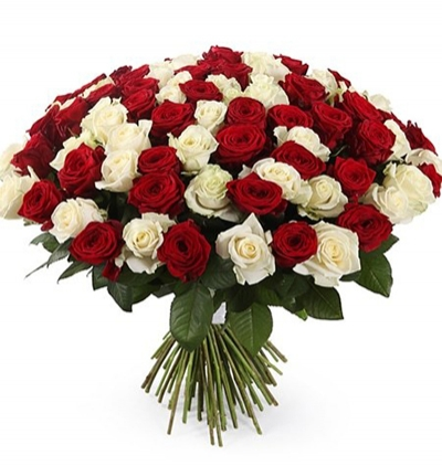 bouquet of lilies and roses 101 white and red roses bouquet