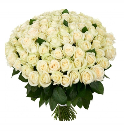 orchids 2 branches 101 white roses bouquet