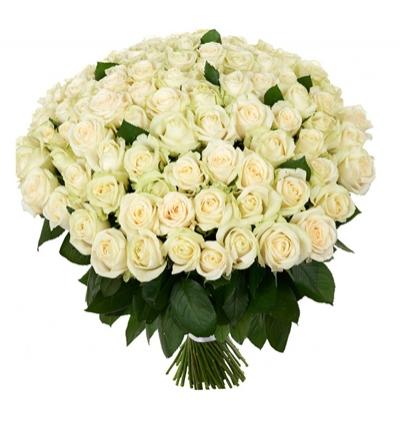 11 weiße rosen bouquet
