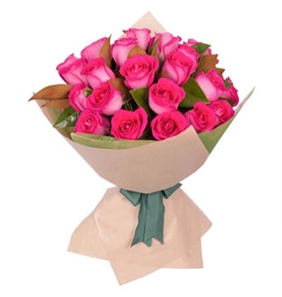 7 Красных Роз Букет из 19 нежно-розовых роз