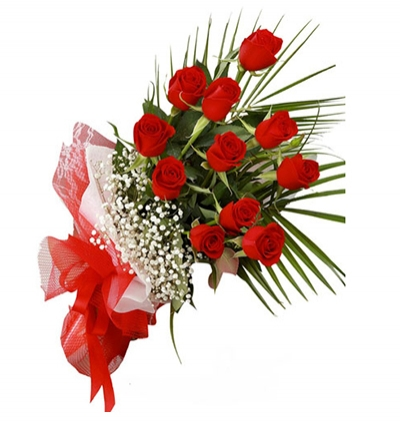 orchids 2 branches 13 Red Roses Bouquet