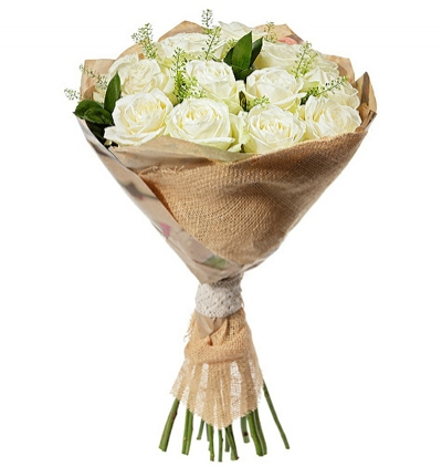 bouquet of phalanopsis 13 White Roses Bouquet