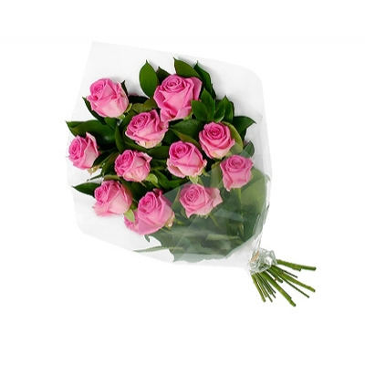 25 roses and teddy bear in the vase 11 Pink Roses Bouquet