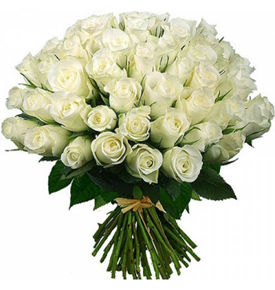 orchids 2 branches 51 white roses bouquet