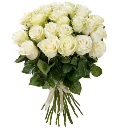 karma Çiçek buketi 25 Beyaz Gül Buketi
