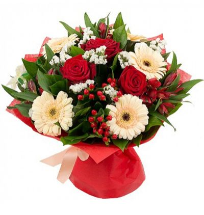 mixed flower bouquet Rose Lilium and Chrysanthemum