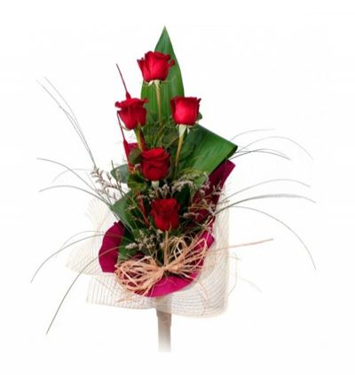 turkey flower delivery 5 Red Roses Bouquet