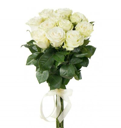 turkey flower delivery 11 White Roses Bouquet